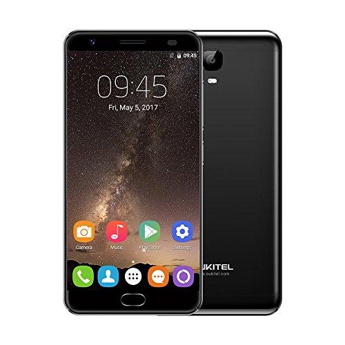 oukitel K6000Plus 4G Smartphone mtk6750t 64-bit Octa Core 14cm 2.5D FHD Android 7.04GB RAM + 64GB ROM, 8MP + 16Dual-Kameras Fingerabdruck ID Unlock Schnelle Aufladung OTG WIFI 6080mAh Rückseite Ladekabel