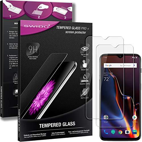 SWIDO Panzerglas Bildschirmschutzfolie kompatibel mit OnePlus 6T (2 Stück) - 9H Panzerglas Folie, HD, Panzerfolie, Tempered Glass Schutzglas, Schutzfolie, Glas, Bildschirmschutz, Ultra-Clear