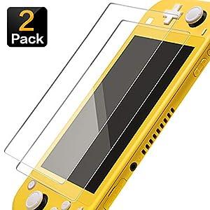 Nintendo Switch Lite Displayschutzfolie Glas (2 Stück), Ginkano Panzerglas Schutzfolie für Nintendo Switch
