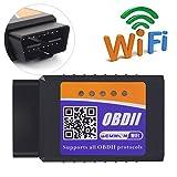 Gemwon Elm327 W-LAN OBDII Scanner, OBD2 Wifi Adapter Auto Diagnose Scanner Code Reader Check Engine für Android und IOS(W-LAN-Black)
