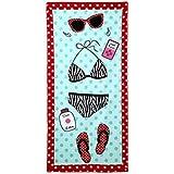 TTD toalla de playa de diseño personalizado creativo para adultos niños 70X150 cm ideal para nadar