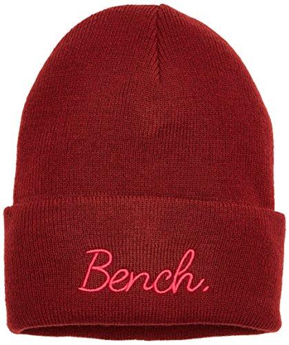 Bench Mädchen Turn UP Beanie Mütze, Rot (Cabernet Rd11343), S