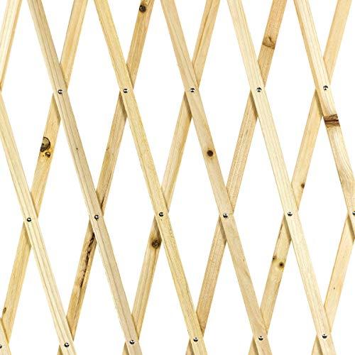 Sti traliccio in legno color naturale grigliato estensibile 150x210 cm per piante