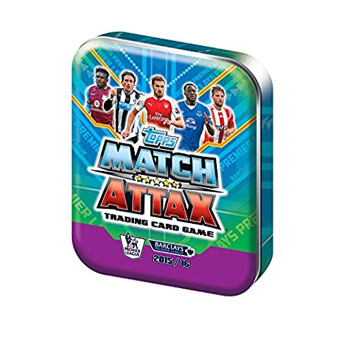 Match Attax EPL 15/16 Trading Card Collector Tin includes 50