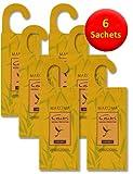 6 sacchetti anti-tarme da appendere, fragranza: citronella, repellente naturale anti-tarme, per utilizzo in cassetti, armadi e contenitori
