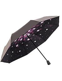 Doble capa paraguas invertido, pococina Creative resistente al agua resistente al viento C de manos libres con asa grande recto Stick al aire libre viaje Golf paraguas de marcha atrás