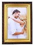 M&H-24 Fotorahmen 10x15 cm Gold Antik - Bilderrahmen Portrait-Rahmen für Fotos Bilder Portrait Set 2 Stück