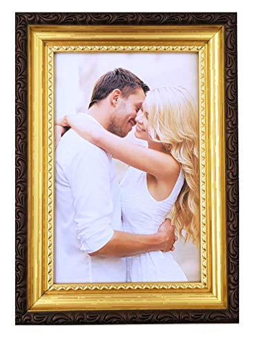 M&H-24 Bilderrahmen 10x15 Gold Antik Rahmen - Fotorahmen Portraitrahmen für Fotos Bilder Portrait...