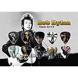 Bob Dylan Púa Para Guitarra Display Tribute Set