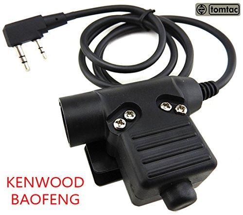 TOMTAC Airsoft U94PTT 2Wege-Funkschalter Sordins Comtac Kenwood 2Pole Kenwood Radio Headsets