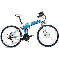 LANKELEISI La Bicicleta de montaña eléctrica Plegable XT750 240W 26