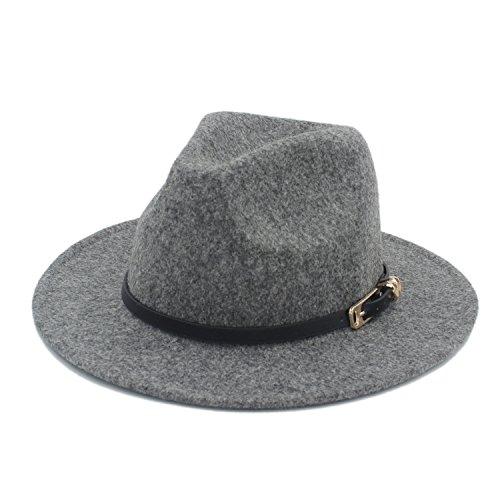 HUILIAN HATS Chapeau à la Mode, Retro Chanvre Couleur Laine Hommes Large Bord Chapeau Fedora pour Laday Cachemire Chapeaux Gentleman Panama Sombrero