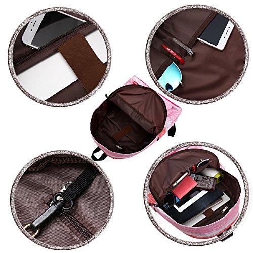 DMbaby DS06 Impermeabile Zaino PC Zaino Vintage Zaino Casual Trekking Viaggio Alpinismo Zaino Ragazza Donna Rosa B1 Pink (40*30*17cm)
