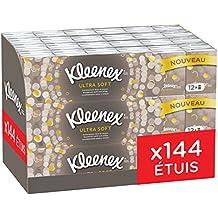 Kleenex Ultrasoft - Etuis mini de Mouchoirs en Papier Ultra doux - Pack de 144
