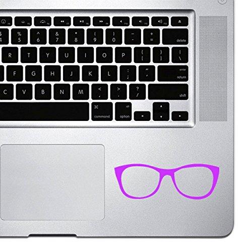 stickany Palm Serie Funny Nerd Brille Aufkleber für MacBook Pro, Chromebook, und Laptops (Hot Pink)