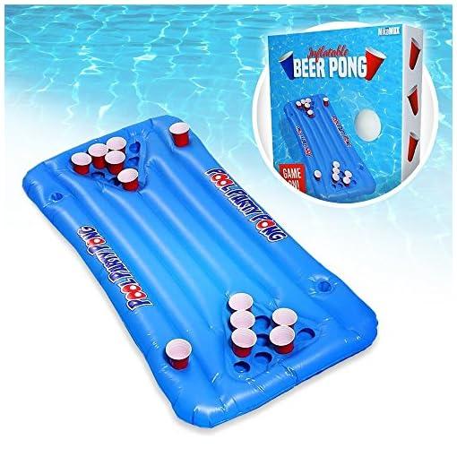 MonsterZeug-Pool-Beerpong-Bierpong-Luftmatratze-Schwimmender-Bier-Pong-Tisch-Beer-Pong-Tisch-Zum-Aufblasen