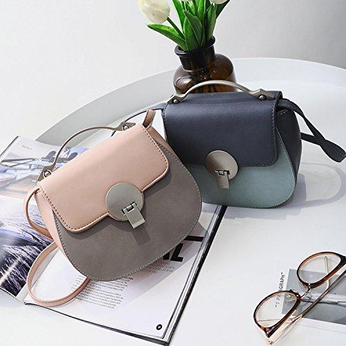 Damenbekleidung Hardware Griff Schlag Farbe Lock Tasche Schulter Messenger Bag Mode Einfaches Paket Rosa