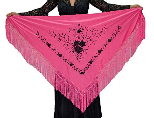Mantón mediano triangular de flamenco o sevillanas (175X75cm)