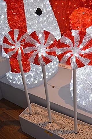 Lumineo Outdoor & Indoor LED Acrylic Christmas Lollipop Lights 60cm 30 LED's