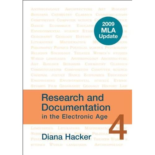 Research and Documentation in the Electronic Age with 2009 MLA Update by Diana Hacker (2009-06-15)