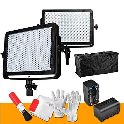 Gowe 600PCS CRI955500K LED Video Studio Licht dimmbar Panel Digitale DSLR Kamera Foto Leuchte W/Tasche 2Filter Batterie Ladegerät Batterien -