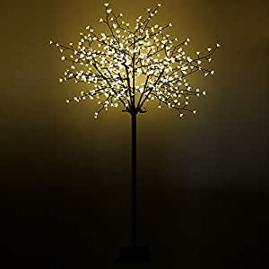 xxl lichterbaum kirschbl tenbaum 600 led 250cm warmwei beleuchteter baum weihnachtsbeleuchtung. Black Bedroom Furniture Sets. Home Design Ideas