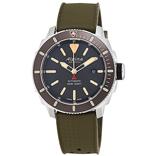 Alpina Men's Seastrong Diver 300 44mm Rubber Band Automatic Watch AL-525LGG4V6