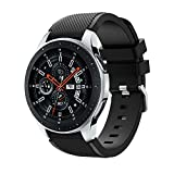 para Samsung Galaxy Watch 46 mm, Correa de Banda de reemplazo de Correa de Reloj de Silicona Suave Correa de Reloj Absolute (Negro)