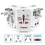 #1: GKP Products Universal International Travel Adapter Plug Surge Protector Europe/UK/US/China. Model 41222