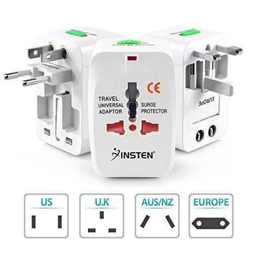 GKP Products Universal International Travel Adapter Plug Surge Protector Europe/UK/US/China. Model 92022
