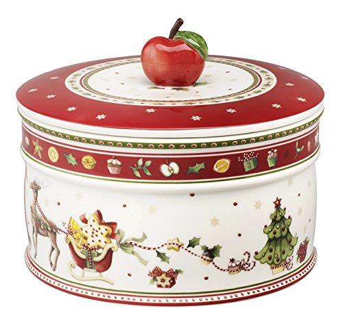 Villeroy & Boch Winter Bakery Delight Gebäckdose groß / Hochwertige Plätzchendose in winterlichem Design / 1 x Keksdose 13 x 17 cm