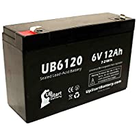 Replacement Tripp-Lite SMART500RT1U Battery - Replacement UB6120 Universal Sealed Lead Acid Battery (6V, 12Ah, 12000mAh, F1 Terminal, AGM, SLA) - Includes TWO F1 to F2 Terminal Adapters