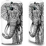 Premium Hülle für das HTC One M8, Hardcase aus recyceltem PET mit Designer Motiv - ''Ornate Elephant'' von BioWorkZ