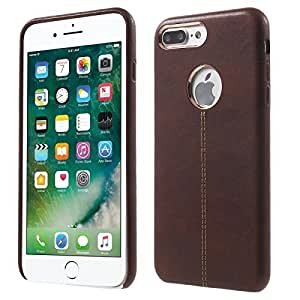 MEEPHONG Premium Luxury Leather Back Cover Vorson Series Cover Case for apple iphone 7 (BROWN)