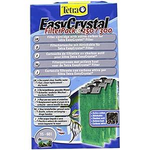 [Gesponsert]Tetra EasyCrystal Filter Pack C250/300 (Filtermaterial mit Aktiv-Kohle, Filterpads für EasyCrystal Innenfilter, geeignet für Aquarien von 30 Liter), 3 Stück