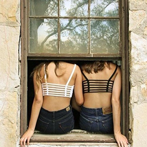 TININNA donne delle estate sexy spiaggia imbottito Reggiseno Vest Cami Tank Top Bianco