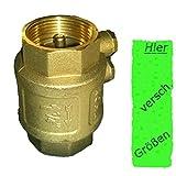 Rückschlagventil 1,25 Zoll ( 41,7mm ) mit doppelter Entlüftung ---- mit Messingklappe für Brunnen Saugschlauch Hauswasserwerk Schwengelpumpe Gartenpumpe in ihrem Garten ------Qualität vom Fachmann ! … (1 1/4 Zoll ( 41,7mm ))