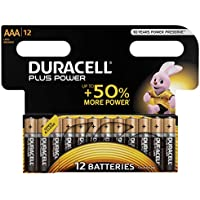 Duracell Plus Power Type AAA Alkaline Batteries, Pack of 12
