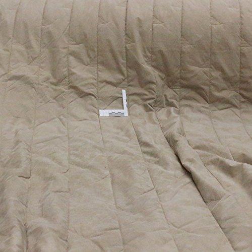 kawenSTOFFE Steppfutter Steppstoff wattiert Lederimitat beige grau Elegantes Leder Meterware