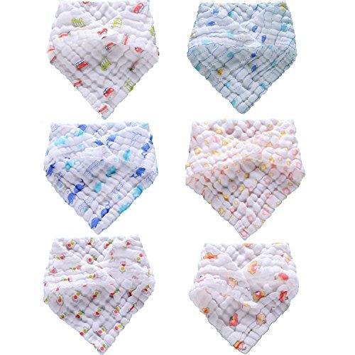 lucear-6-piece-bib-coton-triangulaire-avec-print-bavoir-enfant-bande-de-roulement-souple-respectueux
