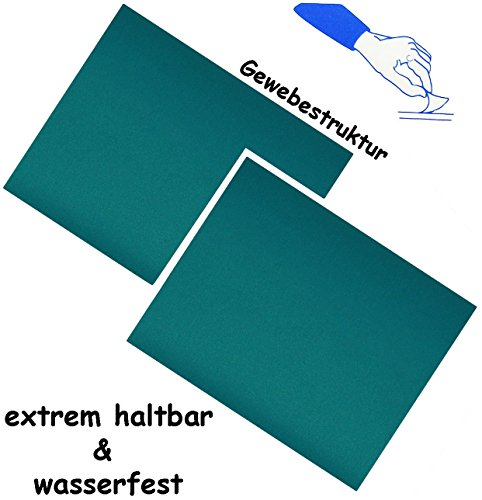 """Preisvergleich Produktbild 6 Stück _ selbstklebende Reparatur Sticker - festes & stabiles - Camping Nylon - """" azur blau / türkis """" - wasserfest & wasserdicht - Aufkleber / Kleber - Flicken - für Campingzelt - Schirme / Segeln Luftmatratze - Bekleidung Regenartikel / ideal für Leder Sofa - Regenbekleidung - Reparaturflicken Camping - außen & innen / wetterfest"""