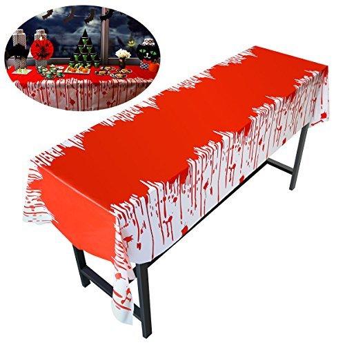 PBPBOX Halloween Blutige Tischdecke Abwaschbare 274*137CM Halloween (Tischdecke Halloween)