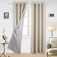 Deconovo Oxford Eyelet Thermal Insulated Room Darkening Curtains by Deconovo
