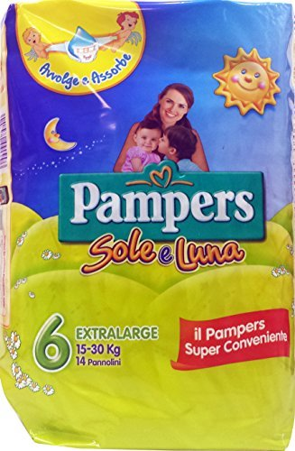 Price comparison product image PAMPERS Pannol.Bim. Sun and moon Extral.15-30 Kg Slice 6 14 Pz