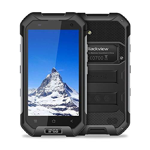 Blackview Smartphone Incassable, BV6000S Telephone Portable Etanche (4G - 4500mAh Batteries - Dual Micro SIM - Camera 8MP - NFC - GPS et GLONASS - Ecran 4.7 HD), Smartphone Etanche Antichoc, Noir
