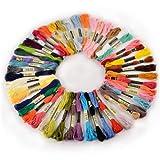 50 échevettes de Fil pour broderie point de croix tricotage corchet multicolores...