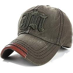 4sold algodón bordado Gorra de béisbol gorra Trucker sombrero Vintage multicolor JM navy green Talla única