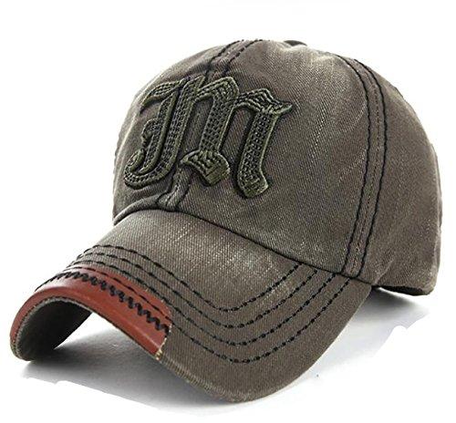 4sold algodón bordado Gorra de béisbol gorra Trucker sombrero Vintage  multicolor JM navy green ... f6eac8b4ecb