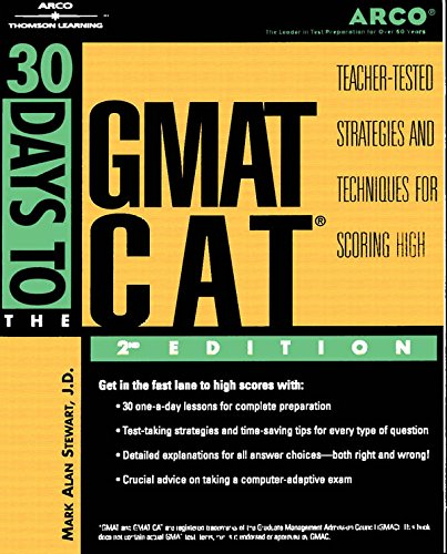 30 Days to GMAT CAT, 2nd ed (Arco Thirty Day Guides)