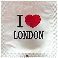 I Luv LTD I Heart London Weiß Neuheit Condom 3er Pack preisvergleich bei billige-tabletten.eu